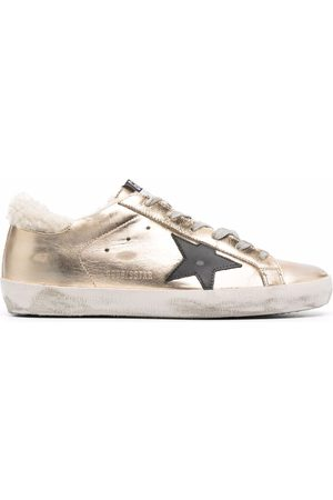 Golden Goose Mujer Tenis - Superstar shearling-trim lace-up sneakers