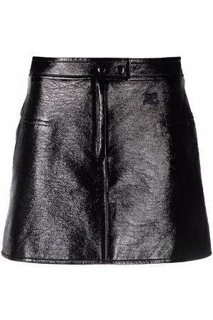 Courrèges Patent mini skirt