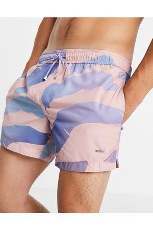 HUGO BOSS BOSS Bonyfish allover palm print swim shorts in pink