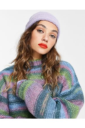 ASOS Boucle fisherman beanie in lilac