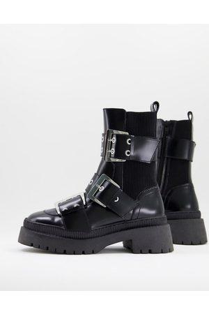 ASOS Mujer Botas y Botines - Angela premium leather biker boots in black