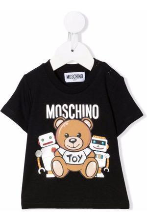 Moschino Playeras - Teddy bear-print short-sleeved T-shirt