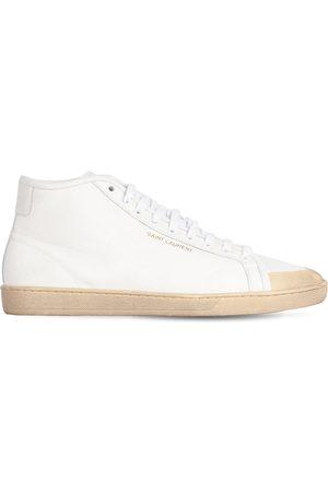 Saint Laurent Sneakers De Lona De Algodón