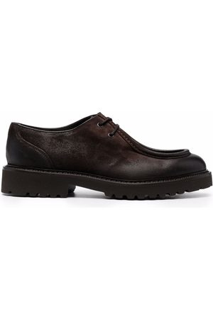 Doucal's Lace-up detail loafers