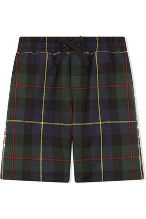 Dolce & Gabbana Shorts a cuadros con cordón