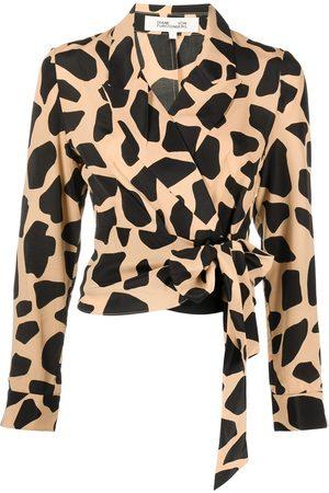 DVF Diane von Furstenberg Giraffe-print blouse