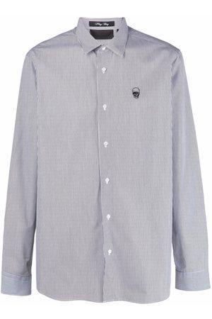Philipp Plein Hombre Camisas - Camisa con bordado Skull