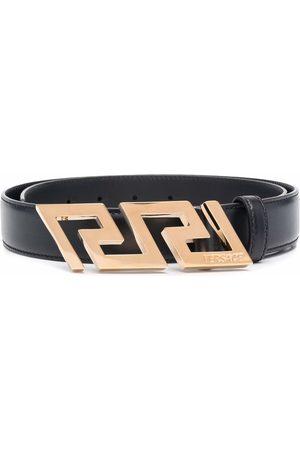 VERSACE Hombre Cinturones - Greca Key engraved buckle belt