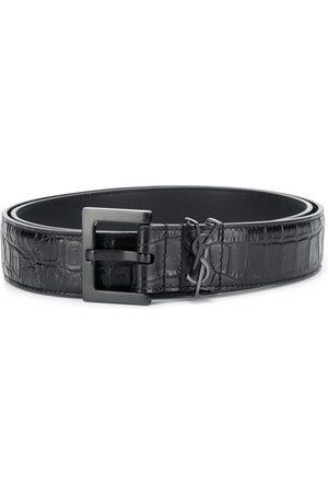 Saint Laurent Hombre Cinturones - Cinturón con motivo de monograma