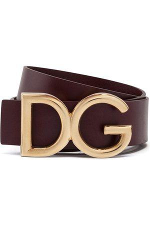 Dolce & Gabbana Hombre Cinturones - Cinturón con aplique del logo