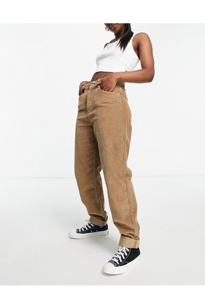 ASOS High rise 'slouchy' mom jeans in biscuit cord