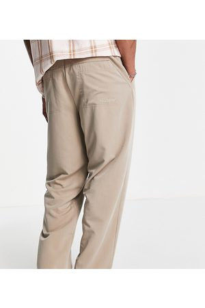 COLLUSION Balloon leg trousers with back pocket detail in ecru
