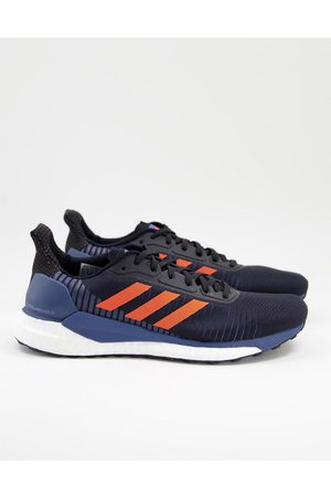 adidas Running Solar glide trainers black and red