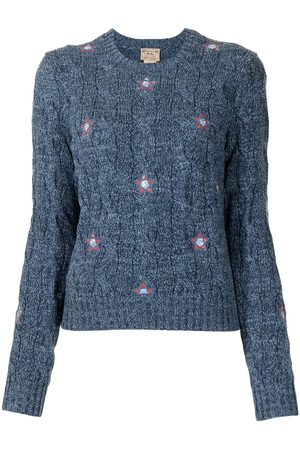 Polo Ralph Lauren Mujer Suéteres cerrados - Floral-embroidered crew neck jumper