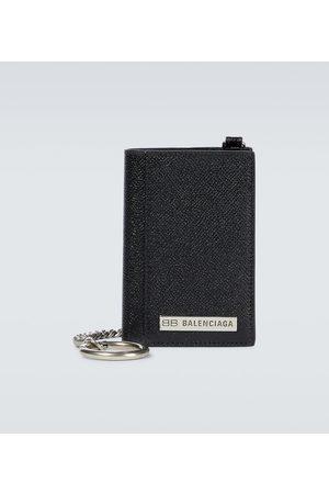 Balenciaga Plate vertical leather wallet