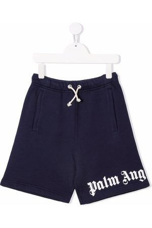 Palm Angels Kids CLASSIC OVER LOGO SHORT NAVY BLUE WHITE