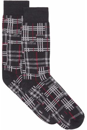 Burberry Calcetines con diseño patchwork