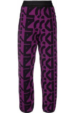 Kenzo Mujer Joggers - Monogram-print fleece joggers