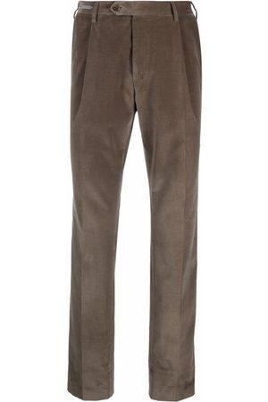 Corneliani Pantalones rectos de terciopelo