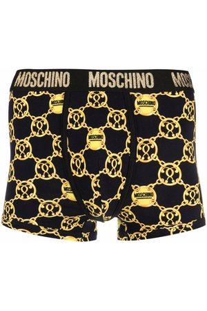 Moschino Double Question Mark logo-waistband boxers
