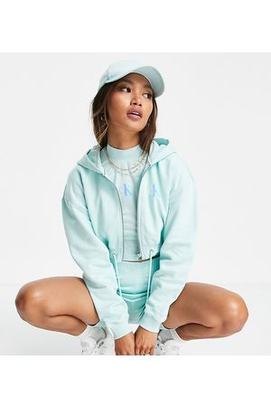 Calvin Klein Exclusive logo zip through cropped hoodie co