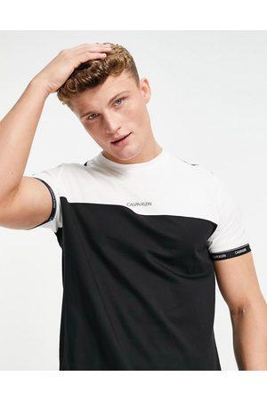 Calvin Klein Logo stripe cuff colourblock t