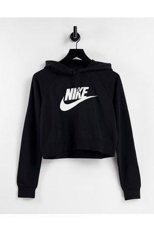 Nike Mujer Con capucha - Swoosh crop hoodie black