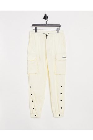Topman Signature cargo trousers in off white