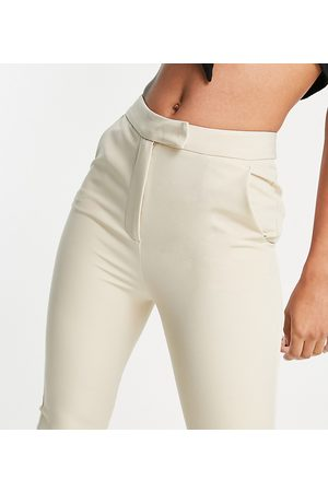 AsYou High waisted kickflare trouser in cream
