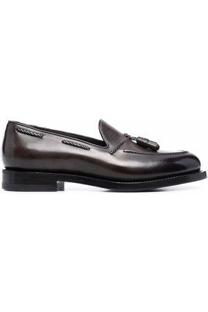 Santoni Hombre Mocasines - Leather tassel detail loafers