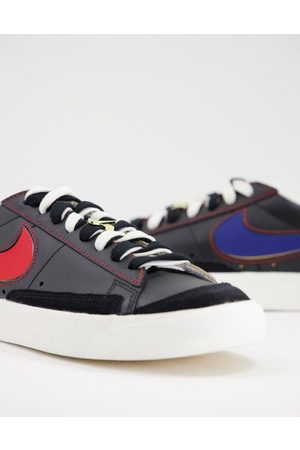 Nike Blazer Low '77 in black with removable swoosh
