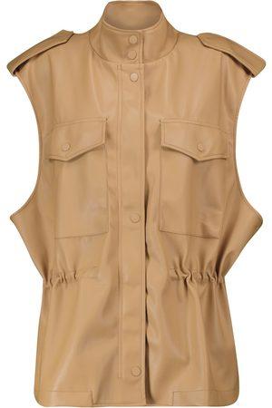 Frankie Shop Ines faux leather vest