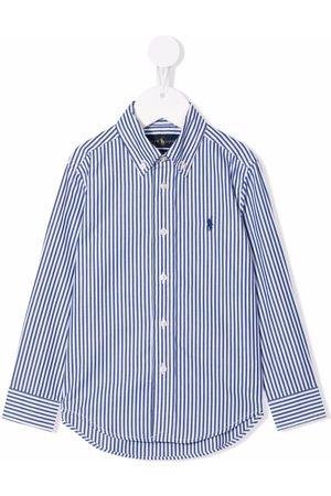 Ralph Lauren Camisa a rayas diplomáticas con logo bordado