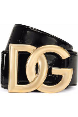 Dolce & Gabbana Mujer Cinturones - Cinturón de charol con hebilla DG