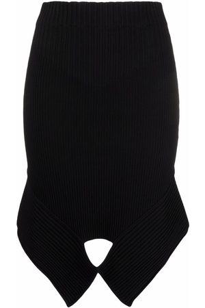Adamo High-waisted cut out-detail mini skirt