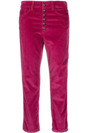 Dondup Cropped corduroy trousers