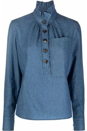 Tory Burch Frilled high-neck shirt