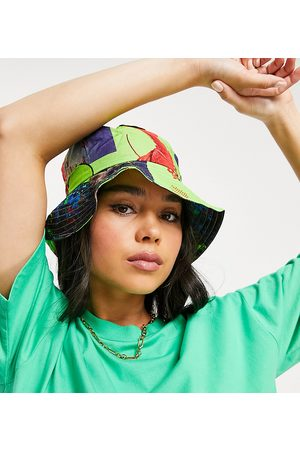 Collusion Bucket hat in neon photographic print