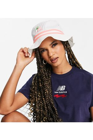 New Balance Miami logo bucket hat in off white exclusive to ASOS
