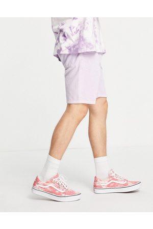 ASOS DESIGN Corduroy classic rigid shorts in lilac