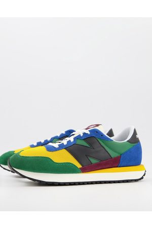New Balance 237 trainers in green colourblock