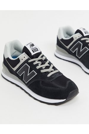 New Balance 574 trainers in black suede