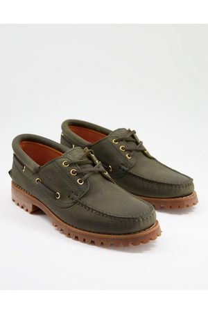 Timberland Authentic 3 eye classic boat shoes in dark green