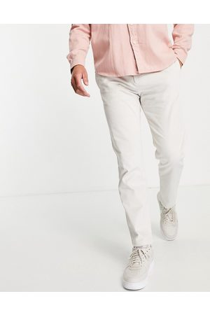 River Island Hombre Chinos - Cord trousers in stone
