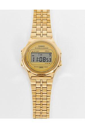 Casio Vintage unisex round bracelet watch in gold A171WEG
