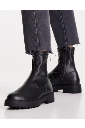 ASOS DESIGN Anton sock boot in black