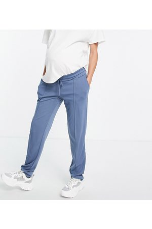 Mama.licious Mamalicous slim fit joggers in blue