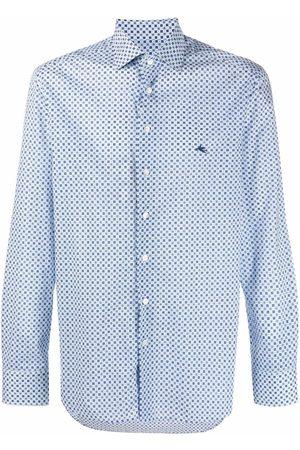 Etro Camisa con motivo geométrico y logo bordado