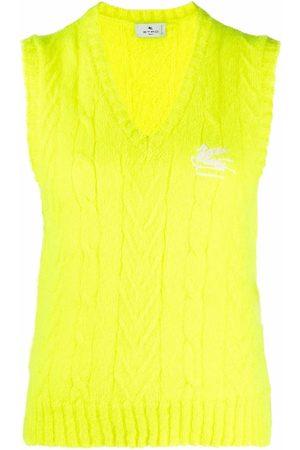 Etro Mujer Chalecos - Chaleco tejido con logo bordado