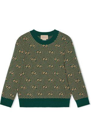 Gucci Kids Suéter tejido con monograma GG